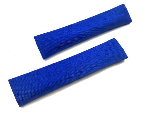 Tuner Seat Belt Shoulder Pads Cover - Blue