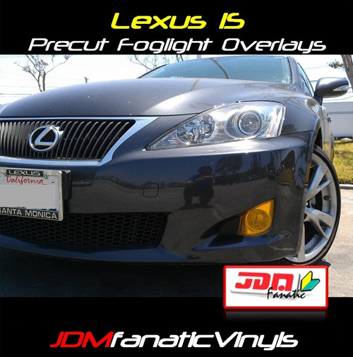 06-10 Lexus IS250/IS300/IS350 Precut Yellow Fog Light Overlays Tint