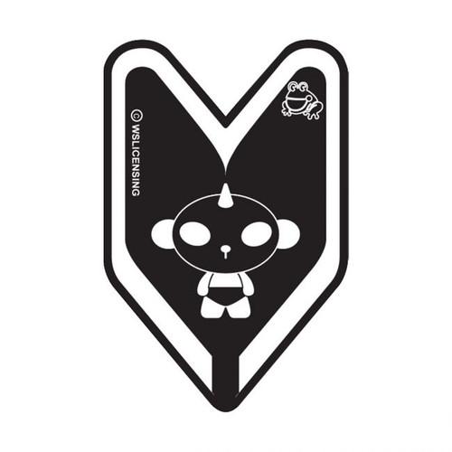 Panda J9 Black Young Leaf  Treefrog Car Air Freshener Scent - Black Squash