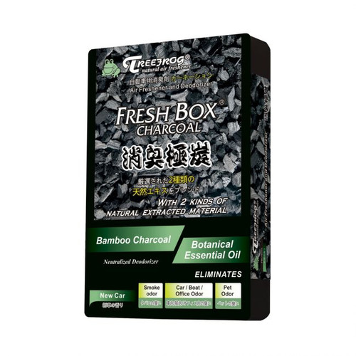 Treefrog Fresh Box  Bamboo Charcoal Car Air Freshener Scent - New Car