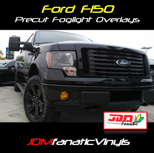 09-12 Ford F150/F250 Precut Smoked Yellow Fog Light Overlays Tint