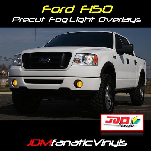 06-08 Ford F150/F250 Precut Smoked Yellow Fog Light Overlays Tint