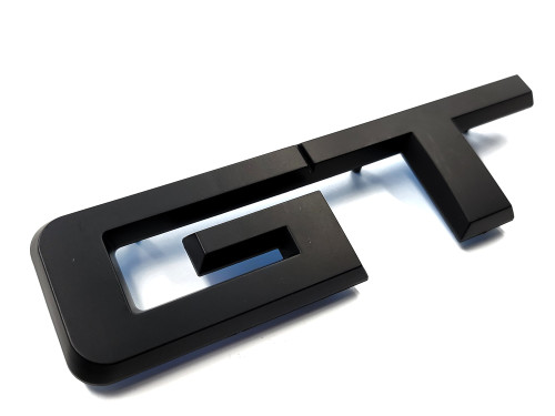 Replacement Trunk Deck Lid Emblem GT Lettering - Matte Black