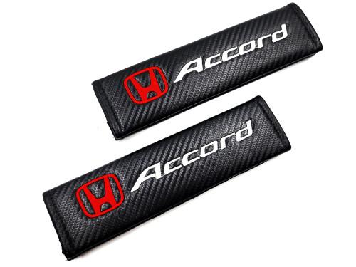 Carbon Fiber Seat Belt Shoulder Pads Cover  - Accord