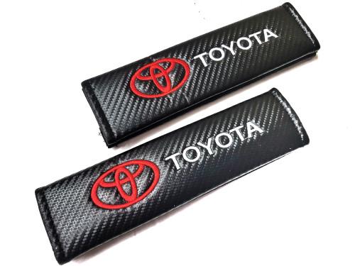 Carbon Fiber Seat Belt Shoulder Pads Cover  - Toyota
