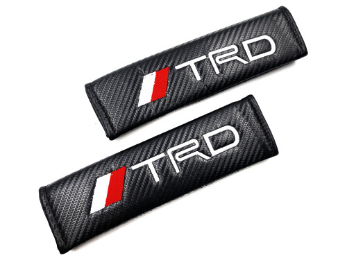 Carbon Fiber Seat Belt Shoulder Pads Cover  - TRD