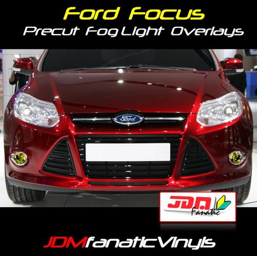 12-14 Ford Focus Precut Smoked Yellow Fog Light Overlays Tint
