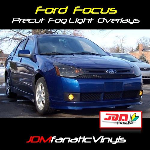 08-11 Ford Focus Precut Smoked Yellow Fog Light Overlays Tint