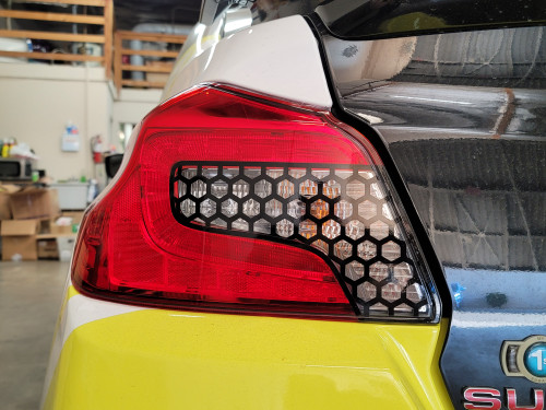 Honeycomb Tail Light Overlays for Reverse/Turn Signals (2015-2020 WRX/STI)
