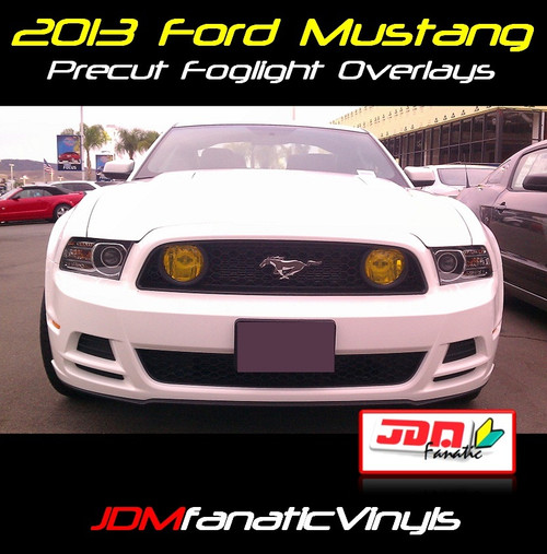 2013 Ford Mustang GT/SVT Precut Yellow Fog Light Overlays Tint