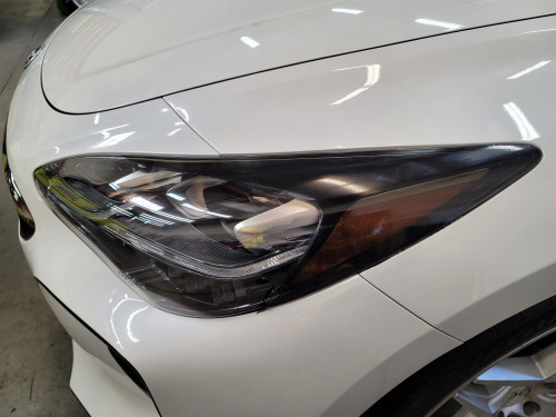 SMOKED Head Light Amber Delete with Eyelids Overlays Precut (Stinger 2018+)