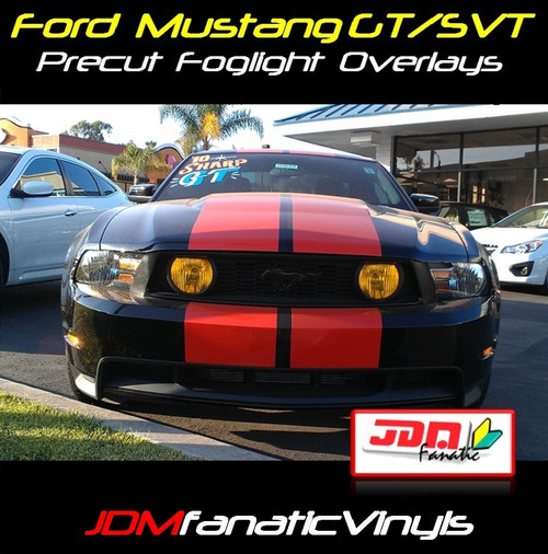 05-09 Ford Mustang GT/SVT Precut Yellow Fog Light Overlays Tint