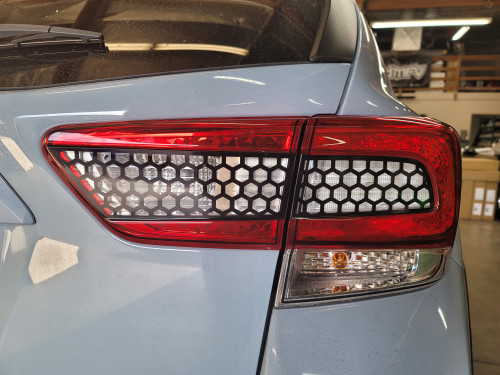 HoneyComb Black Tail Light & Reverse Overlays Tint (2018-2021 Crosstrek XV / Impreza)