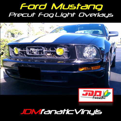 05-09 Ford Mustang Pony Package Precut Yellow Fog Light Overlays Tint