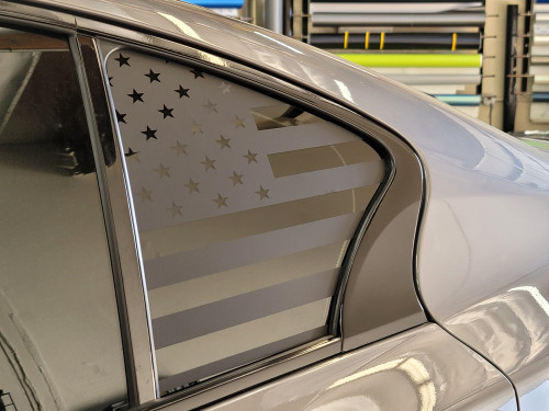 American Flag Quarter Window Decal (Infiniti Q50)