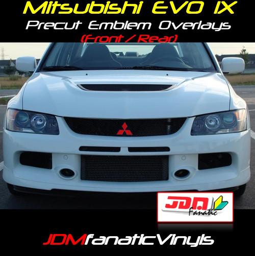 06-07 Mitsubishi Lancer / EVO IX Precut Emblem Front/Rear Overlays