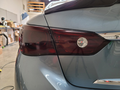 Smoked Tail Light Overlays w/ Reverse cutout (14-18 Q50)