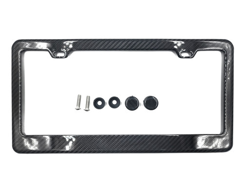 100% Real Carbon Fiber  license Plate Frame