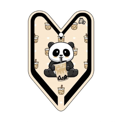 Boba Panda Young Leaf Treefrog Car Air Freshener Scent - Black Milk Tea