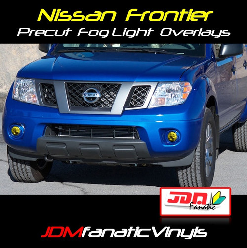 09-12 Nissan Frontier Precut Yellow Fog Light Overlays Tint