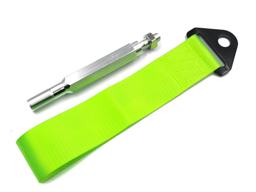 Tow Strap Front or Rear with Mounting Rod - Neon/Fluorescent Yellow