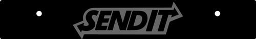 Vanity Plate Delete SEND IT Logo Engraved -  Gloss Black Acrylic