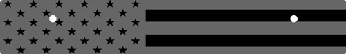 Vanity Plate Delete AMERICAN FLAG Logo Engraved -  Gloss Black Acrylic