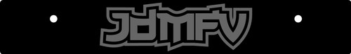 Vanity Plate Delete JDMFV Logo Engraved -  Gloss Black Acrylic