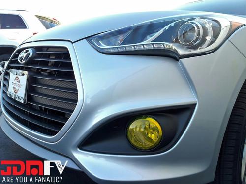 2013-2016 Hyundai Veloster Turbo Precut Yellow Fog Light Overlays Tint