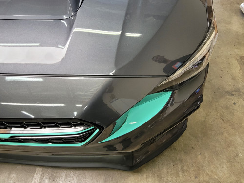 Front Bumper Under Eyelid Vinyl Accent Overlay - Choose Your Color | 2018-2021 WRX / STI