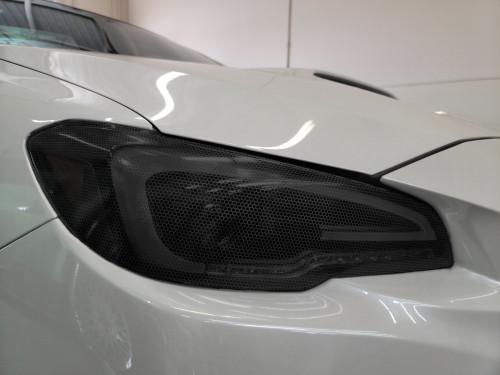 Smoked Hex Honeycomb Headlight overlays Tint (2015-2021 WRX/STI)