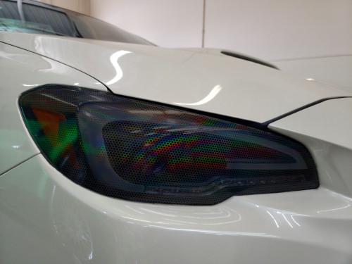 Smoked Bio-Hex Honeycomb Headlight overlays Tint Rainbow NeoChrome (2015-2021 WRX/STI)