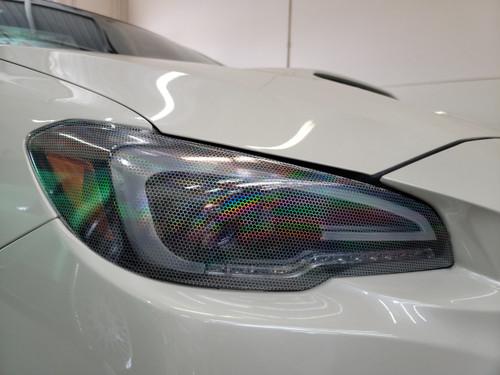 Silver Bio-Hex Honeycomb Headlight overlays Tint Rainbow NeoChrome (2015-2021 WRX/STI)