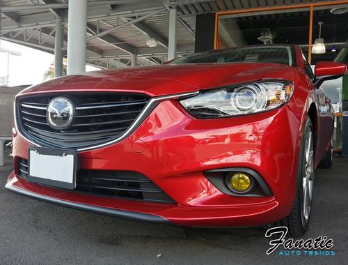 2014 Mazda 6 Precut Yellow Fog Light Overlays Tint Covers Kit