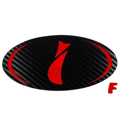 """""""i"""" - Precut Emblem Overlays Front (97-01 GC 2.5RS)"""