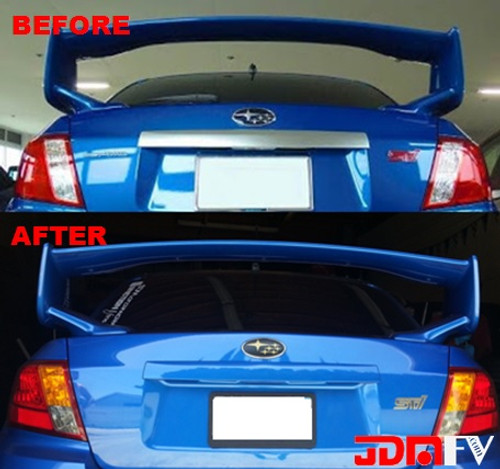 Rear Trunk Trim Chrome Delete Carbon Fiber & Color Matched Wrap  (08-14 WRX/STI)