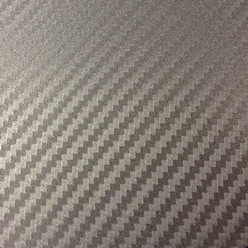Gray Carbon Fiber Vinyl Wrap Overlay 3D Textured - Universal Kit