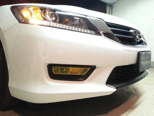 Precut Yellow Fog Light Overlays Tint (Accord 13-15)