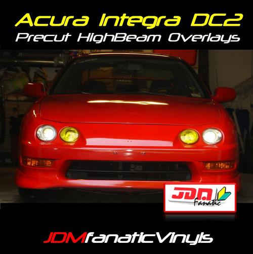 98-01 Acura Integra DC2 Precut Yellow High Beam Overlays Tint