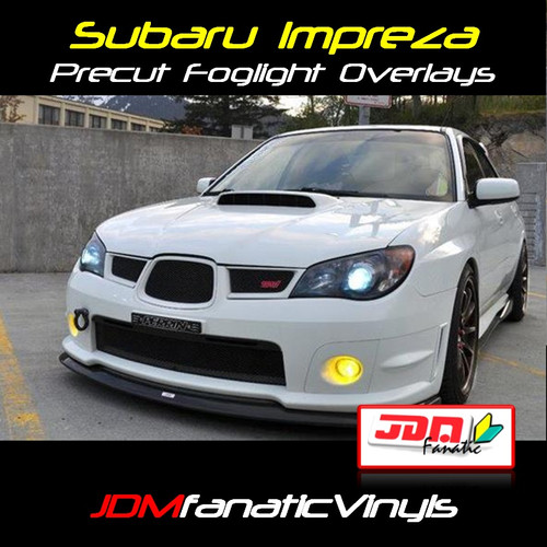 Precut Yellow Fog Light Overlays Tint (06-07 WRX/STI)