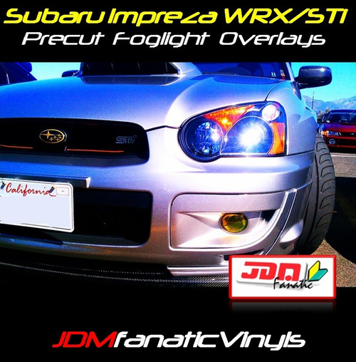 Precut Yellow Fog Light Overlays Tint (04-05 WRX/STI)