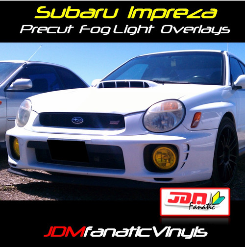 Precut Yellow Fog Light Overlays Tint (02-03 WRX/STI)