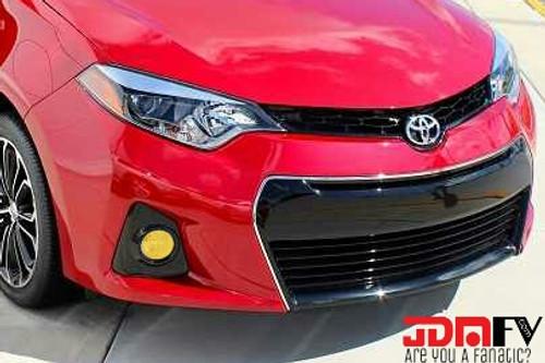 14-16 Toyota Corolla Precut Yellow Fog Light Overlays Vinyl Tint Kit