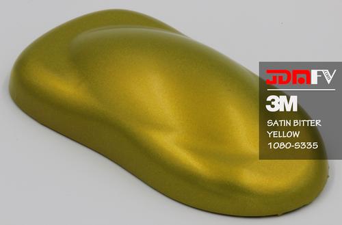 3M 1080 S335 - Satin Bitter Yellow Vehicle Wrap Vinyl - Universal Kit