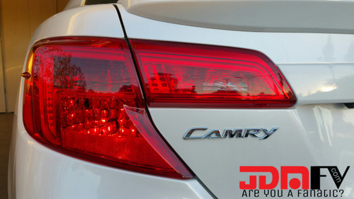 12-14 Toyota Camry Precut REDOUT Tail Light Overlays with Reverse Cutout Vinyl Tint Kit