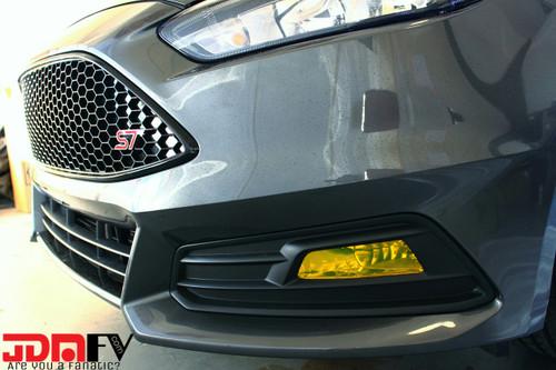 15-18 Ford Focus ST Precut Smoked Yellow Fog Light Overlays Tint