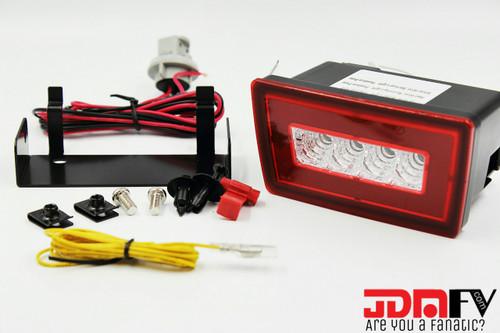 LED F1 STYLE REAR FOG / REVERSE/ BRAKE LIGHT JDM - RED/CLEAR