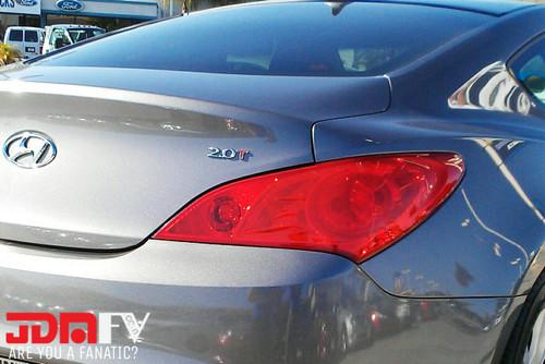 10-12 Hyundai Genesis COUPE Precut REDOUT Tail Light Overlays Tint