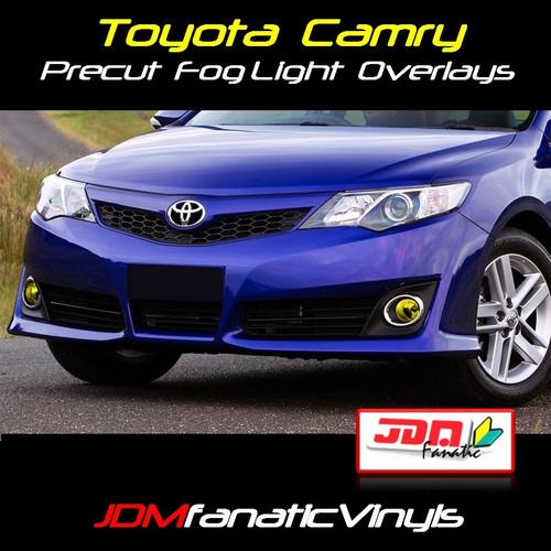 12-14 Toyota Camry Precut Yellow Fog Light Overlays Vinyl Tint Kit