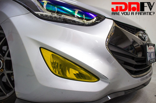 Precut Yellow Fog Light Overlays Tint (13-16 Elantra Coupe)